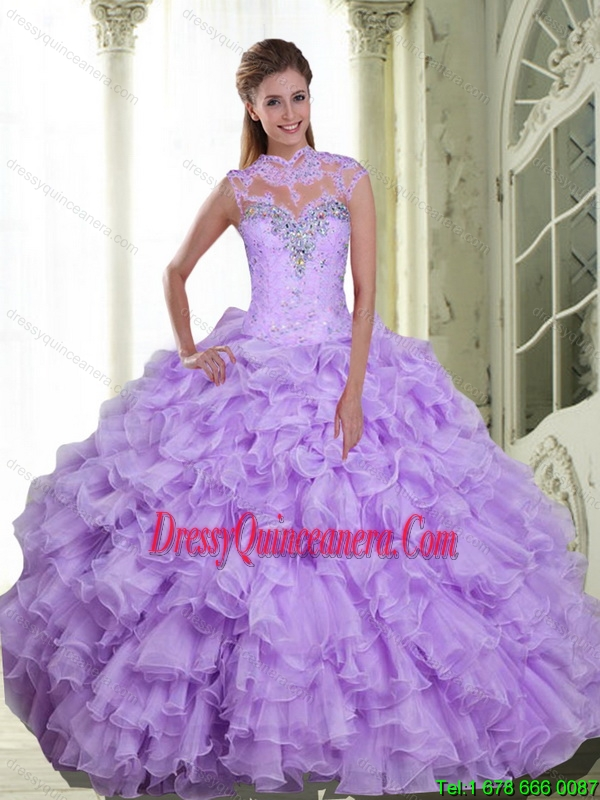 641774bc4 Pretty Beading and Ruffles Sweetheart Quinceanera Dresses for 2015