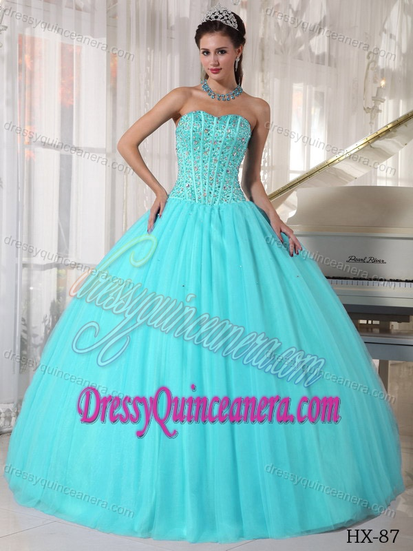 Turquoise Sweet 16 Dresses - Missy Dress