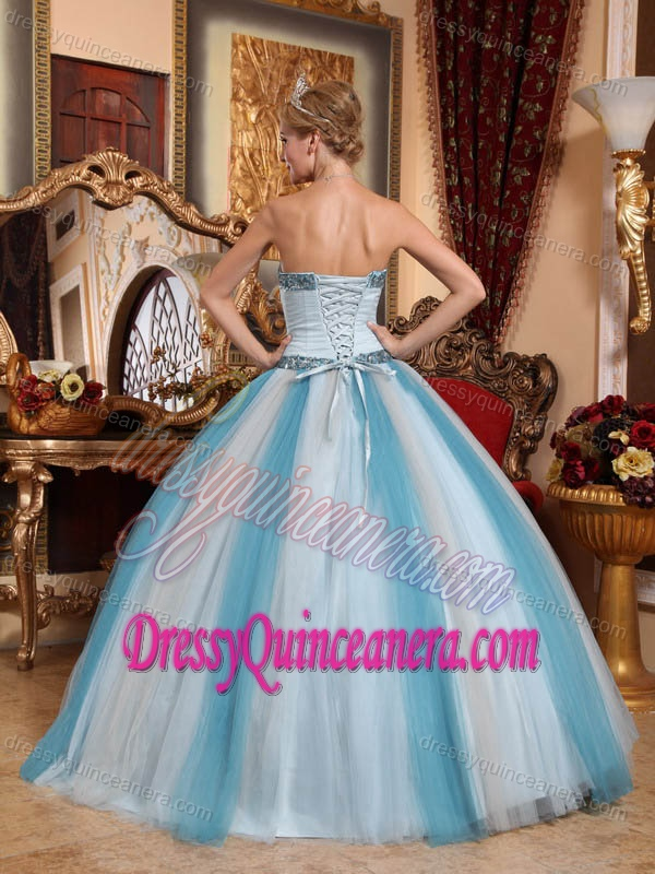 Multi-colored Sweetheart Tulle Ball Gown Quinceanera Dresses with Beading on Sale