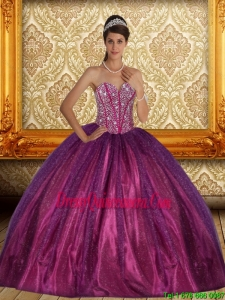 Brand New Beading Sweetheart Ball Gown Quinceanera Dress for 2015