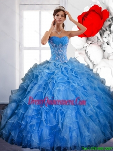 Free and Easy Ball Gown Quinceanera Dress with Ruffles and Appliques