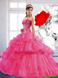 Artistic Sweetheart Ball Gown 2015 Quinceanera Dress with Appliques
