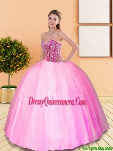 Pretty Beading Sweetheart Quinceanera Gown for 2015 Spring