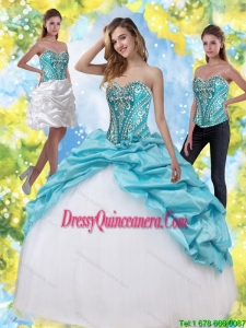 Vintage Sweet 15 Dresses with Embroidery and Pick Ups
