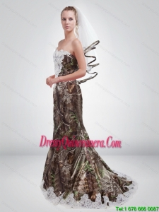 2015 Sturning Mermaid Sweetheart Camo Dama Dresses in Multi Color