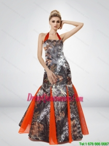 Beautiful Mermaid Halter Top 2015 Camo Dama Dresses