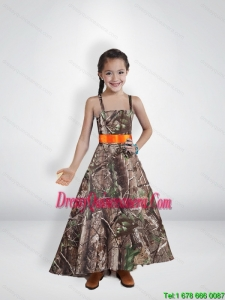 Comfortable Princess Straps Camo Little Girl Pageant Dreses