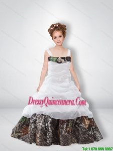 Cute A Line 2015 Camo Little Girl Pageant Dreses with Beading