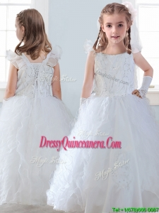 Discount Organza Straps Mini Quinceanera Dress with Sequins and Ruffles