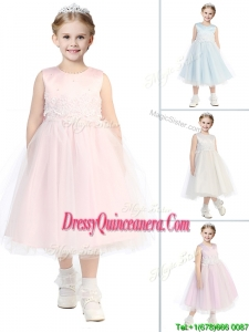 New Arrivals Scoop Little Girl Pageant Dress with Appliques and Beading