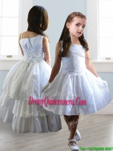 Popular Asymmetrical Neckline Detachable Mini Quinceanera Dress with Appliques