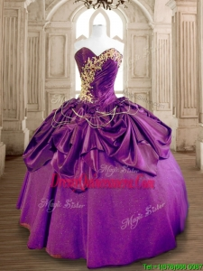 Latest Eggplant Purple Quinceanera Dress with Beading and Ruffles