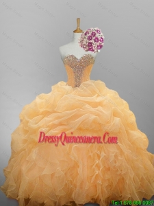 2015 Winter Luxurious Sweetheart Quinceanera Dresses with Ruffled Layers