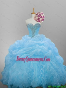 New Arrival 2016 Summer Sweetheart Quinceanera Dresses with Beading and Ruffled Layers