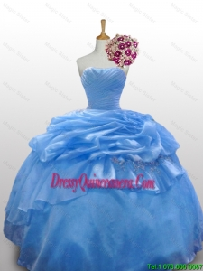 2015 Fall Elegant Strapless Quinceanera Dresses with Paillette and Ruffled Layers