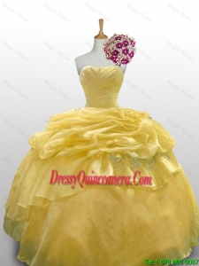 2015 Fall Top Seller Ball Gown Quinceanera Dresses with Appliques Layers