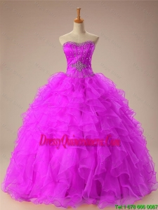 2015 Winter New Style Sweetheart Quinceanera Dresses with Beading