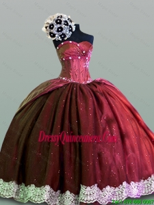 Elegant Sweetheart Lace Quinceanera Gowns in Taffeta for 2015 Fall
