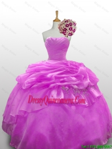 Pretty 2016 Summer Beaded Quinceanera Dresses with Ruffled Layers