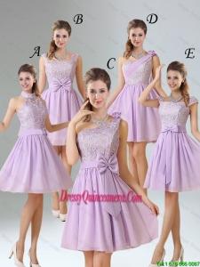 2016 New Style A Line Chiffon Dama Dresses in Lavender
