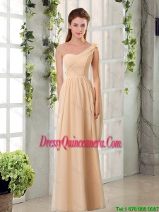 2016 Beautiful Empire Chiffon Dama Dresses with Ruching