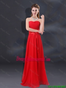 2016 Ruched Empire Beautiful Dama Dresses with Belt