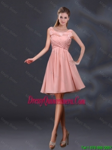 Beautiful Bateau A Line Dama Dresses with Appliques and Ruching