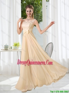 Beautiful Bateau Empire Dama Dresses with Lace and Belt