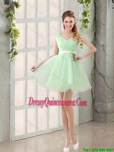 2016 Beautiful A Line Belt Dama Dresses