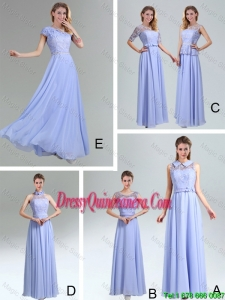2016 Beautiful Belt Empire Dama Dresses in Lavender