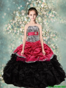 Lovely Strapless Mini Quinceanera Dresses with Zebra and Ruffles