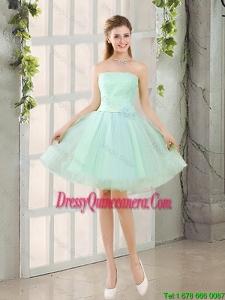 Custom Made A Line Strapless Dama Dresses with Belt