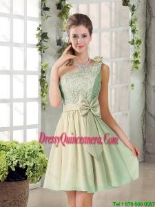 Short A Line One Shoulder Lace 2016 Summer Dama Dresses