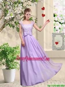 New Style Laced and Bowknot Dama Dresses with Square