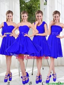 Elegant A Line Sweetheart Dama Dresses in Royal Blue