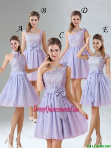 2016 Spring A Line Mini Length Dama Dresses in Lavender