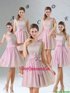 2016 Summer A Line Lace Dama Dresses with Hand Made Flower