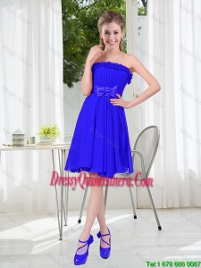 Short Strapless Dama Dresses for Wedding Party