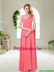 Luxurious Asymmetrical Dama Dresses in Watermelon Red