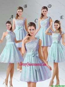 2016 Romantic A Line Lace Dama Dresses