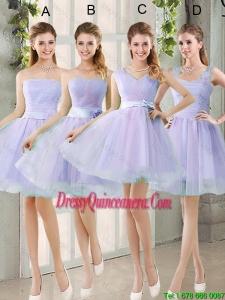 2016 Spring A Line Short Dama Dresses with Belt