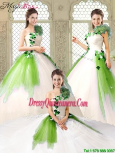 Cheap One Shoulder Sweet 16 Dresses with Appliques and Ruffles