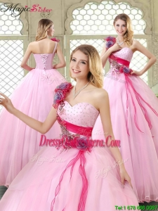 New Arrivals Beading Quinceanera Gowns with One Shoulder