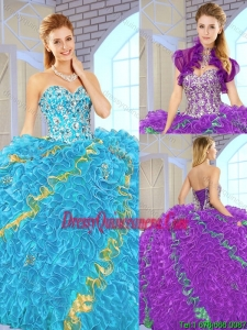 Popular 2016 Sweetheart 2016 Quinceanera Gowns in Multi Color