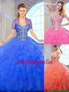 Classical Floor Length Quinceanera Dresses with Beading for 2016