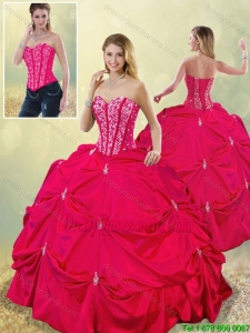 Perfect Sweetheart Beading 2016 Quinceanera Gowns in Hot Pink
