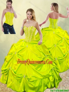 Exclusive Beading and Pick Ups Quinceanera Dresses for Spring