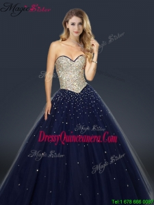 2016 Perfect A Line Sweetheart Dama Dresses with Beading and Paillette