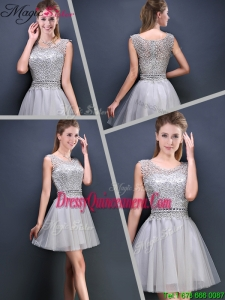 Fall Perfect Mini Length Scoop Dama Dresses with Appliques