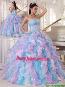 2016 Elegant Multi Color Quinceanera Dresses with Ruffles and Appliques